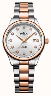 Rotary | Women's Oxford | Two-Tone Stainless Steel | Silver Sunray LB05094/70/D