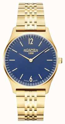 Roamer | Women's Elements | Gold Plated Stainless Steel | Blue Dial 650815-48-45-50