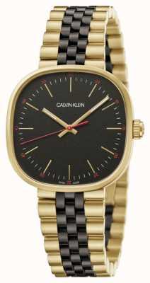 Calvin Klein | Men's | Squarely | Two-Tone Bracelet | Black Dial | K9Q125Z1