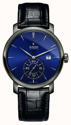 Rado | XL Diamaster Petite Seconde | Black Leather | Blue Dial | R14053206