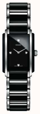 Rado Integral Diamonds High-Tech Ceramic Square Dial Watch R20613712
