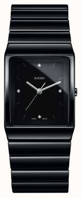 Rado Ceramica Diamonds Square Dial Ceramic Bracelet Watch R21700702