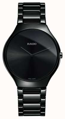 Rado True Thinline High-tech Ceramic Black Dial Watch R27741182
