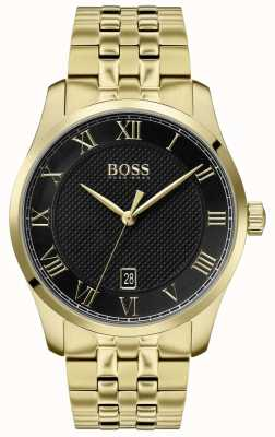 Boss | Men's Master | Gold PVD Bracelet | Black Dial | 1513739