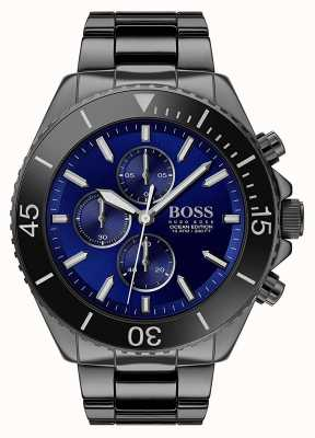 Boss | Men's Ocean Edition | Black Stainless Steel | Blue Dial | 1513743