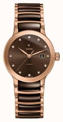 Rado | Centrix Diamonds Automatic | High-Tech Ceramic | Brown R30183752