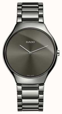 Rado True Thinline Grey Ceramic Bracelet Grey Dial Watch R27955122