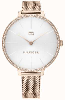 Tommy Hilfiger | Women's Kelly | Rose Gold Mesh Bracelet | White Dial | 1782115