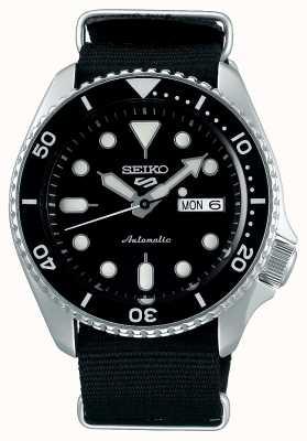 Seiko 5 Sport | Sports | Automatic | Black Dial | Black Canvas SRPD55K3