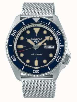 Seiko 5 Sport | Suits | Automatic | Blue Dial | Steel Mesh SRPD71K1