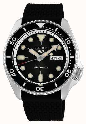 Seiko 5 Sport | Suits | Automatic | Black Dial | Black Rubber SRPD73K2