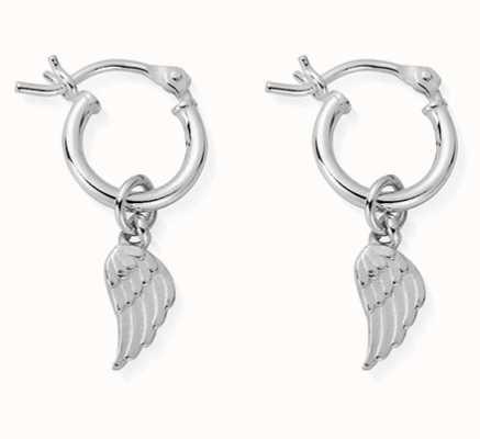 ChloBo | Sterling Silver 'Divinity Within' Hoop Earrings | SEH2535