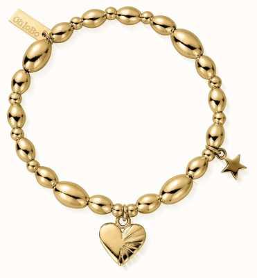 ChloBo | Sterling Silver Gold Plated 'Sacred Love' Bracelet | GBLR2556810