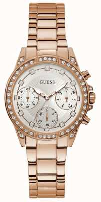 Guess | Women's Gemini | Rose Gold Stainless Steel | Silver Dial | W1293L3
