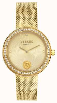 Versus Versace | Women's Léa | Gold Mesh Bracelet | Gold Dial | VSPEN0819