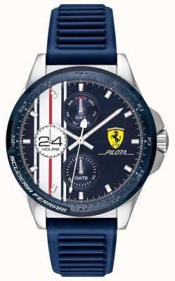 Scuderia Ferrari | Men's Pilota | Blue Rubber Strap | Blue Chronograph Dial | 0830660