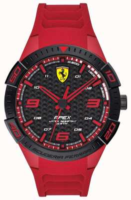 Scuderia Ferrari | Men's Apex | Red Rubber Strap | Black/Red Dial | 0830664