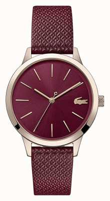 Lacoste 12.12 Women's | Burgundy Leather Strap | Burgundy Dial | 2001092