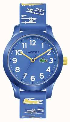 Lacoste 12.12 Kids | Blue Rubber Printed Strap | Blue Dial | 2030019