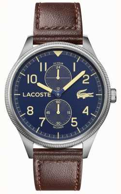 Lacoste | Men's Continental | Brown Leather Strap | Blue Dial | 2011040