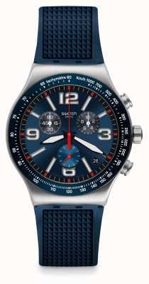Swatch | New Irony Chrono | Blue Grid Watch | YVS454