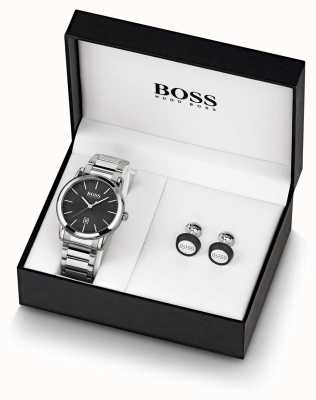 Boss | Mens | Black Watch And Cufflink Set | 1570091
