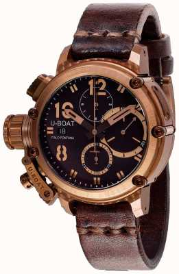 U-Boat Chimera Chrono 43mm Bronze Brown Strap 8014