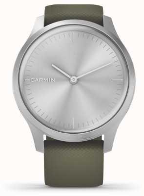 Garmin Vivomove Style | Silver Aluminium Case | Moss Silicone Strap 010-02240-01
