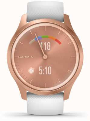 Garmin Vivomove Style | Rose Gold Aluminium Case | White Strap 010-02240-00