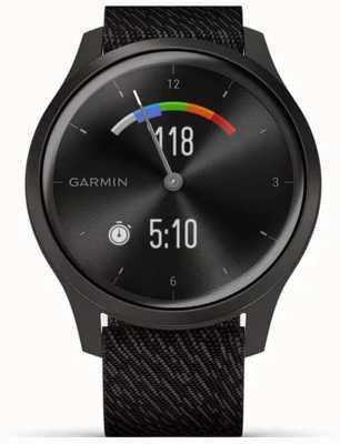 Garmin Vivomove Style | Graphite Aluminium Case | Black Strap 010-02240-03