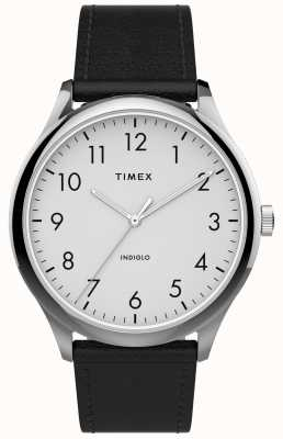 Timex | Easy Reader 40mm | Black Leather Strap | White Dial | TW2T71800