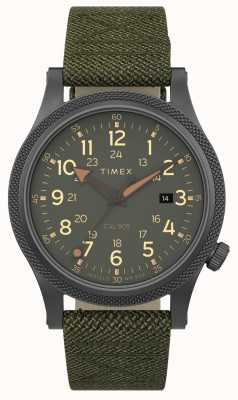 Timex | Allied LT 40mm | Grey Case | Green Fabric Strap | TW2T76000