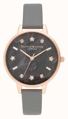 Olivia Burton | Womens | Celestial | Vegan London Grey Strap | OB16GD55