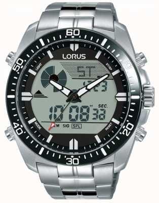 Lorus | Men's Duo Display | Stainless Steel Bracelet | R2B03AX9