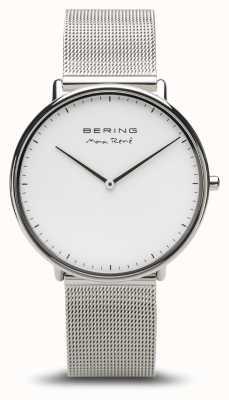 Bering   Max René   Men's Polished Silver   Silver Mesh Bracelet   15738-004