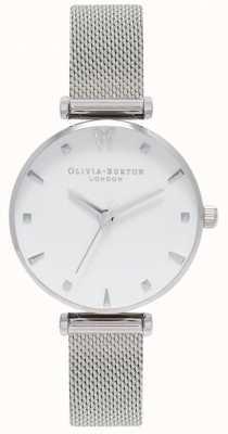 Olivia Burton | Womens | Social Butterfly | White Dial | Mesh Bracelet OB16MB12