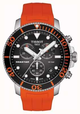 Tissot | Seastar 1000 Chronograph | Orange Strap | 300m T1204171705101