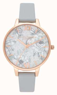 Olivia Burton | Womens | Terrazzo Florals | Grey Vegan Leather Strap | OB16TZ01