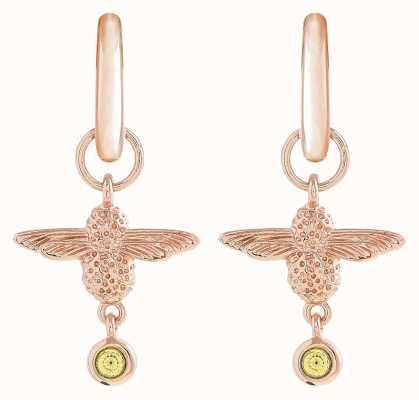 Olivia Burton | Mum To Bee | Huggie Hoop | Yellow And Gold | Earrings | OBJAME166