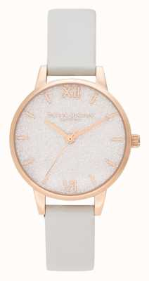 Olivia Burton | Womens | Glitter Dial | Vegan Leather Strap | OB16GD50