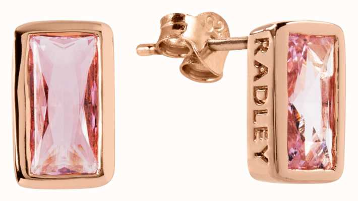 Radley Jewellery Radley Rocks | Rose Gold Plated Baguette Stone Stud Earrings RYJ1112S
