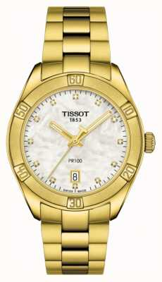 Tissot | PR 100 | Gold Plated Stainless Steel |Mother Of Pearl Dial T1019103311601