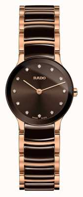 RADO Centrix Diamonds White Ceramic And Rose Gold R30190702