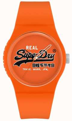 Superdry Urban Original | Orange Silicone Strap | Orange Print Dial | SYG280OB