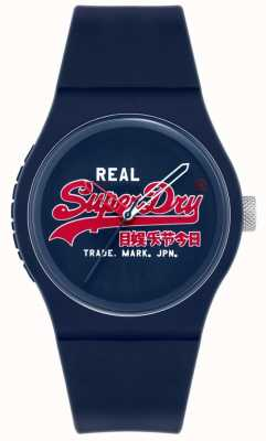 Superdry Urban Original | Blue Silicone Strap | Blue Print Dial | SYG280UR