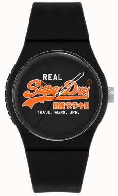 Superdry Urban Original | Black Silicone Strap | Black Print Dial | SYG280BO