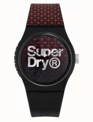 Superdry Urban Geo Sport | Black/Red Silicone Strap | Black/Red Dial SYG268R