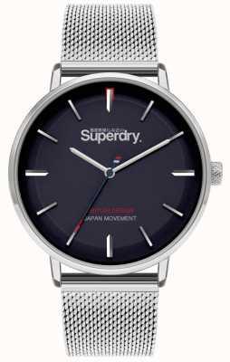 Superdry Ascot XL | Silver Mesh Bracelet | Blue Dial | SYG284SM
