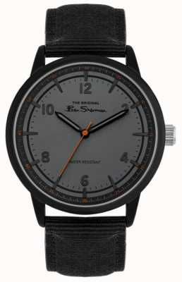Ben Sherman Men's Black Canvas Strap | Grey Dial | BS024B