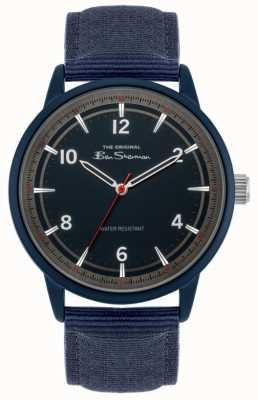 Ben Sherman Men's Navy Canvas Strap | Navy Dial | BS024U